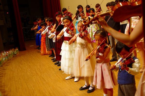 2014年度 メヌエットヴァイオリン教室主催発表会 中区役所ホール
